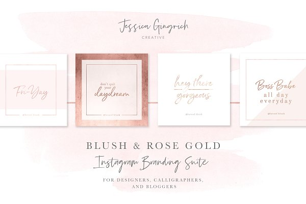Blush & Rose Gold Social Media Pack