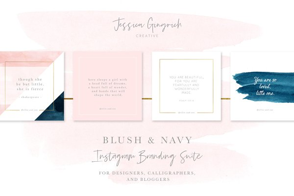 Blush & Navy Social Media Pack