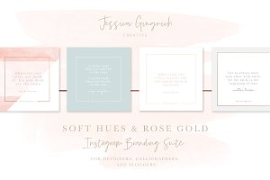 Soft Hues & Rose Gold Instagram Set