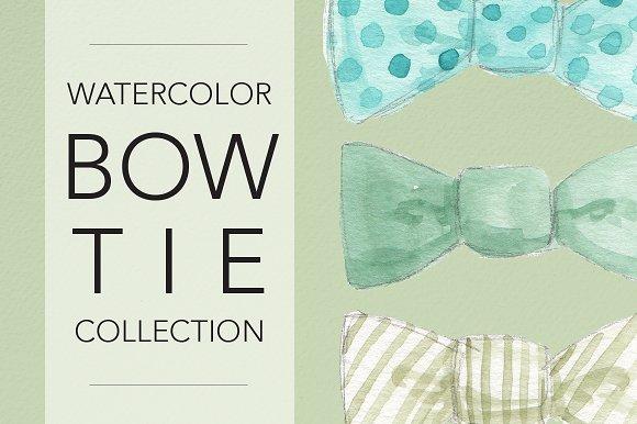 Watercolor Bow Ties