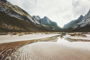 Horseid beach in Norway Landscape