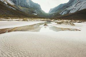 Landscape Horseid Beach in Norway