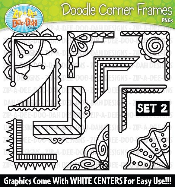 Doodle Corner Frames Clipart Set 2