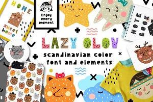 Lazy Olov - Scandinavian Color Font