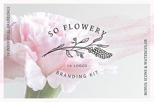 So Flowery Branding Kit+Watercolours