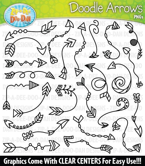 Doodle Arrows Clipart Set 1