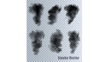 Smoke vectors on transparent backgro