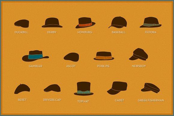 Retro hats ~ Graphics ~ Creative Market ea760cad569