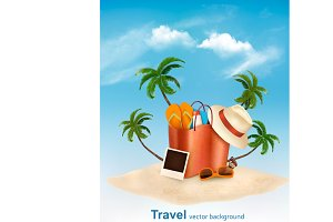 Seaside vacation vector. Travel item