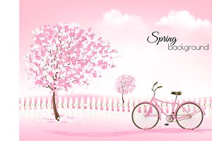 Spring background. Vector