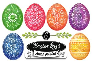 Easter Eggs hand painted folk art