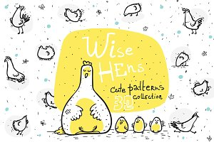 Wise Hens - 32 patterns+print