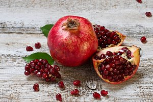 Ripe juicy pomegranate