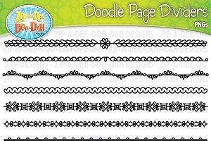Doodle Page Divider Clipart Set 1