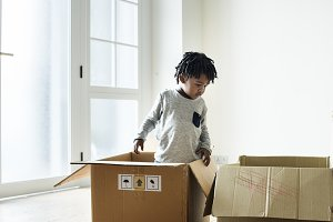 black boy moving to new house