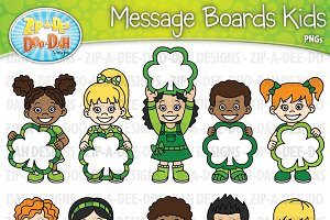 Shamrock Message Boards Kids Clipart