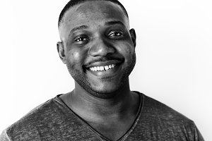 Portrait of black guy