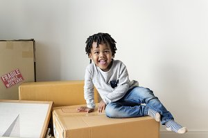 Boy moving to new house