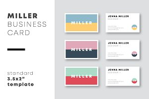 Miller Business Card Template