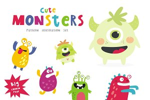 Cute vector monster