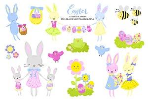 Easter Spring Egg Hunt Clip Art