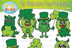 St. Patrick's Day Monsters Clipart