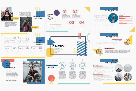 GMTRY Powerpoint Template