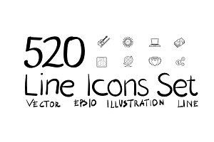 520 Line icons set