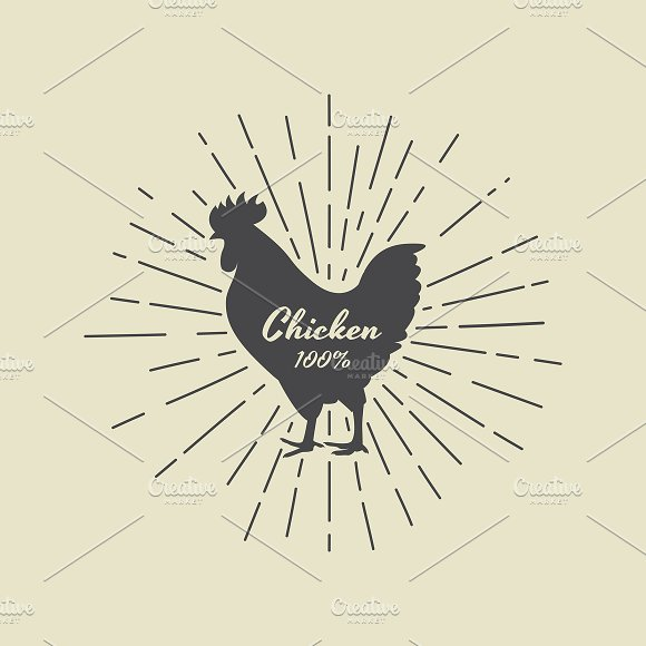 Vector Of Silhouette Of Chicken