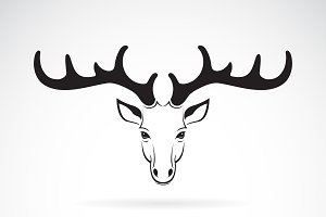 Vector group of deer head design.