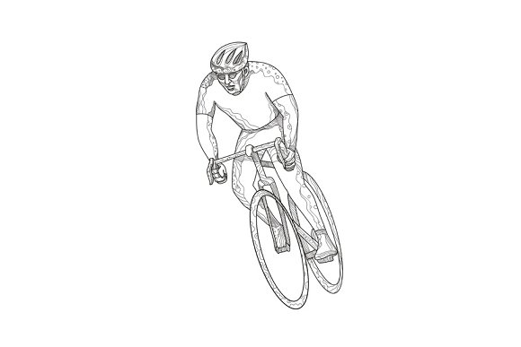 Road Bicycle Racing Doodle