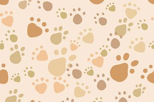 Pet vector seamless pattern