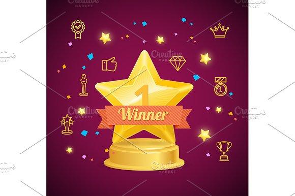 Award Winner Concept Vector