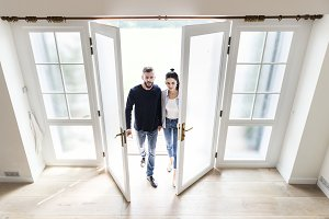 Couple move to new house