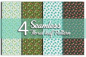 4 Seamless Pattern Floral Leaf