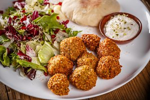 Falafel, deep fried balls