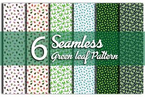 6 Seamless Pattern Repeated Leaf