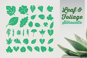 Leaf Foliage Silhouette Set