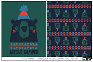 PRINT AND PATTERN DESIGN AS VECTOR