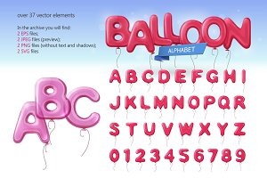 Balloon Alphabeth Set