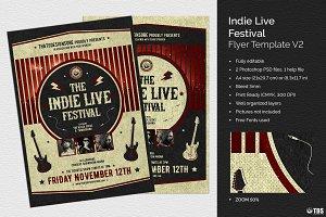Indie Live Festival Flyer V2