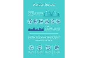 Ways to Success Visualization Vector Illustration