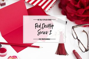 Red Desktop Photo Bundle Series 2