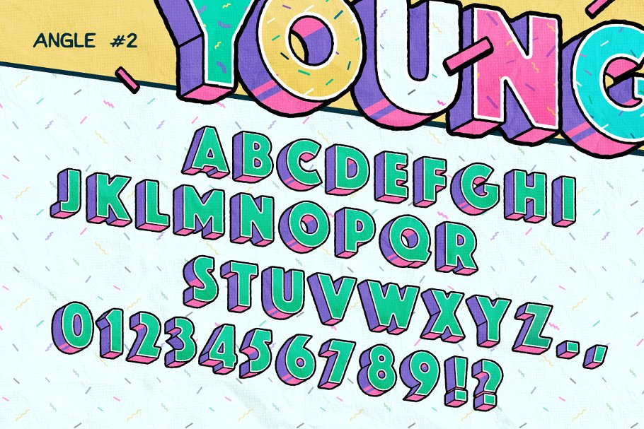 Good Times Alphabet & Graphic Set    in Graphics - product preview 4
