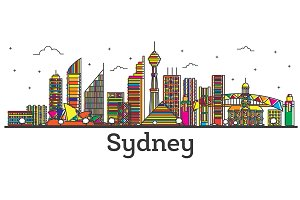 Outline Sydney Australia City