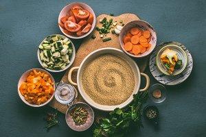 Vegetarian Couscous dish ingredients