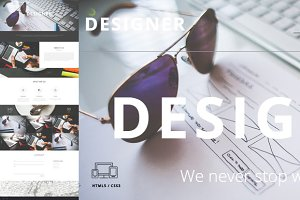 Designer - One Page Template HTML