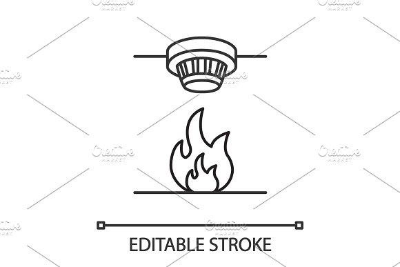 Smoke Detector Linear Icon