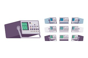 Oscilloscope device set