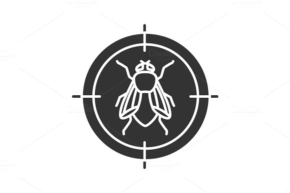 Housefly Target Glyph Icon